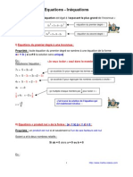 équations - inéquations (3ème)