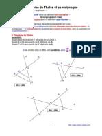 théorème de Thalès (agrandissement - réduction) (3ème)