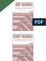 Manual - Honda Accord 1993-'98