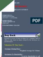 PPT on Buy Back Shares- Nikhil