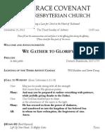 Worship Bulletin December 15, 2013 (Chris Martin's Conflicted Copy 2013-12-11)