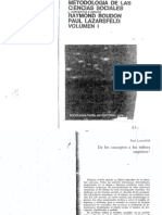 Boudon Lazarsfeld - Metodologia de Las Ciencias Sociales