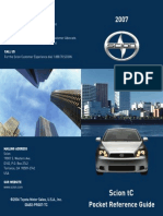 2007 Scion Tc Vehicle Pocket Reference Guides