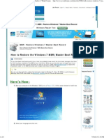 mbr - restore windows 7 master boot record - windows 7 help forums