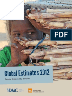 Global Disaster Human Displacement Estimates 2012 May2013