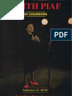 Book Edith Piaf - 25 Chansons