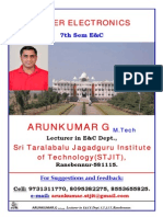 0 1 Power Electronics 6th Chapter Notes by Arunkumar G, Lecturer in STJIT, Ranebennur