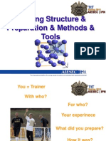 2. Training Structure & Preparation & Methods and Tools