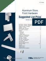 Ilco Storefront Hardware List Price Book 2014