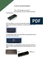 Línea del tiempo de los microprocesadores