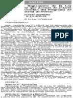 Reglamento de la Ley Nº 29885