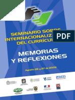 Seminrio Sobre Interncionalizacion Del Curriculo u Nal2009