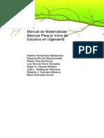 Manual de Matematicas Basicas Para El Inicio de Estudios en Ingenieria