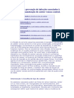 Guia para prevenção de infecções associadas à inserção e manutenção de cateter venoso central