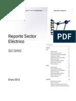 Reporte Sector Electrico Enero 2013
