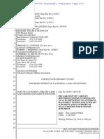 NCAA Filing in O'Bannon Case December 13 2013