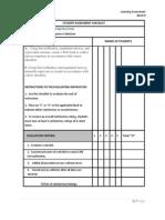 student assessment checklist block ii
