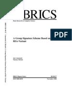 A Group Signature based on RSA-Variant