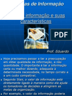 Valor da informação e suas características