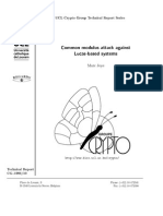 Common Modulus Attack Against Lucas-Based Systems
