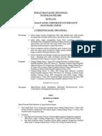 84pbi2006 Pelaksanaan Good Corporate Governance Bagi Bank Umum