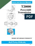 Dana T2000 6 Speeds Long Drop Service Manual