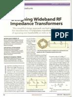 Artigo - 2007 - Designing Wideband RF Impedance Transformers