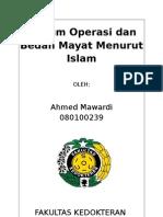 Hukum Operasi Dan Bedah Mayat Menurut Hukum Islam