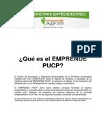 Qué es el EMPRENDE PUCP 2013.ok