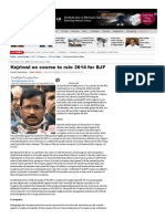 "India Today's Shanti Bhushan ""Fake"" Article - Kejriwal on course to ruin 2014 for BJP"