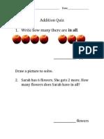 addition quiz 10-4