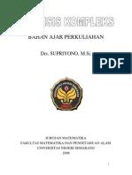 Analisis Kompleks - Drs. Supriyono- M.si