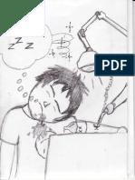 Sleeping List Comic Panel
