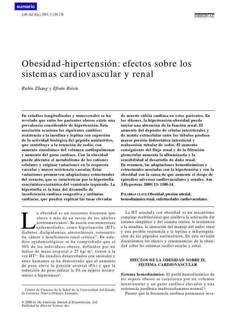 Efectos del sistema cardiovascular sobre la presión arterial
