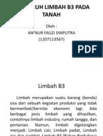Pengaruh Limbah b3 Pada Tanah