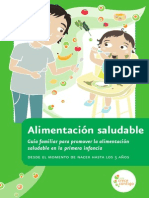 Cartilla alimentación saludable en menores