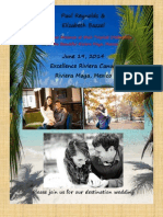 paul  elizabeths save the date wedding guest info packet excellence riviera cancun