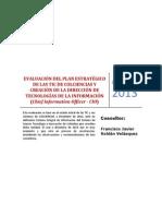 Evaluación del Plan Estratégico de las TIC de Colciencias
