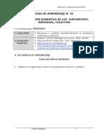 1 BIM Guía 4 to 16 Sustantivo individual y colectivo