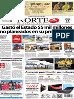 Periódico Norte de Ciudad Juarez 14 de Diciembre de 2013