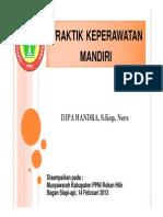 PRAKTEK MANDIRI PERAWAT