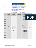 Timetable F2013