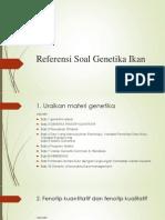 Referensi Soal Genetika Ikan