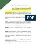 CONTRATO DE PRESTACIÓN DE SERVICIOS A HONORARIOS BARRIA