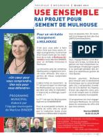 Programme Martine Binder Municipal e Mulhouse 2014