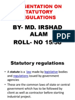 Statutory regulation