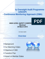 Universal Safety Oversight Audit Programme (USOAP) - Continuous Monitoring Approach (CMA)