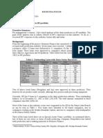 Industry report for  Dairy - BiH