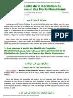 Recitation Sur Les Defunts
