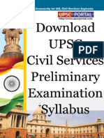 UPSC Civil Services Preliminary Examination Syllabus